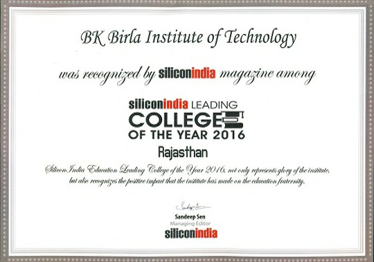 Leading College of the Year 2016